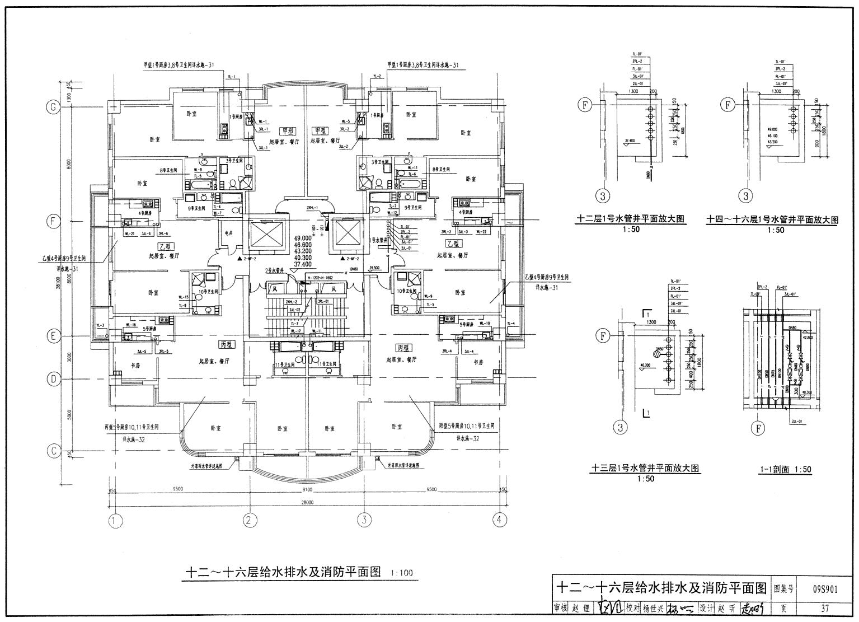 民用建筑工程结构设计深度图样(s901-902)